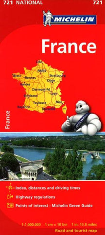 Buy map France (721) by Michelin Maps and Guides