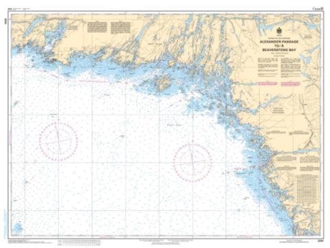 Buy map Alexander Passage to/a Beaverstone Bay by Canadian Hydrographic Service