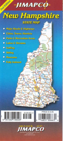 Buy map New Hampshire by Jimapco