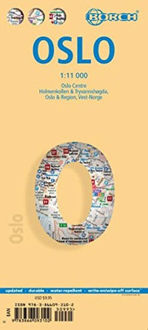 Buy map Oslo, Norway by Borch GmbH.