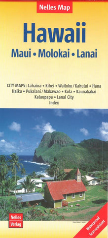Buy map Maui, Molokai, Lanai, Hawaii by Nelles Verlag GmbH