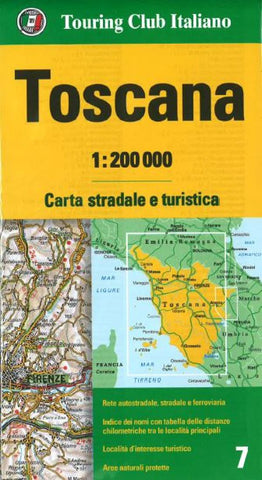 Buy map Tuscany, Italy by Touring Club Italiano