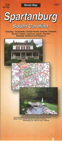 Buy map Spartanburg, South Carolina by The Seeger Map Company Inc.