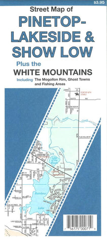 Buy map Street Map of Pinetop-Lakeside and Show Low, Arizona plus the White Mountains by North Star Mapping