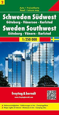 Buy map Sweden, Southwest, Gothenburg, Vanersee and Karlstad by Freytag-Berndt und Artaria