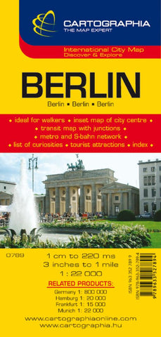 Buy map Berlin, Germany by Cartographia