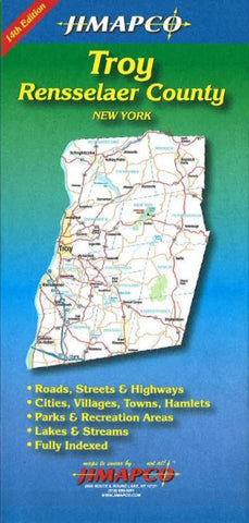 Buy map Troy, New York and Rensselaer County, New York by Jimapco