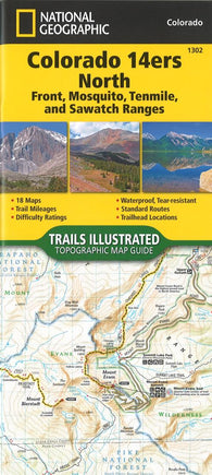 Buy map Colorado 14ers North, Map 1302 by National Geographic Maps