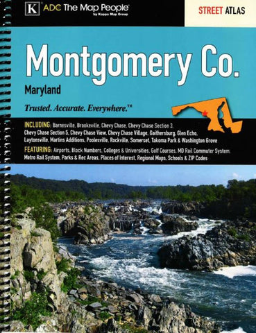 Buy map Montgomery County, MD, Street Atlas by Kappa Map Group