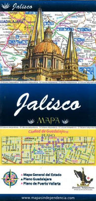 Buy map Jalisco, Mexico, State and Major Cities Map by Ediciones Independencia