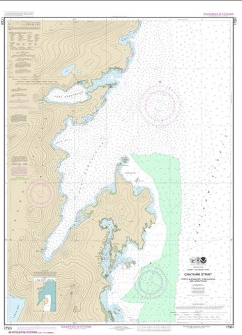 Buy map Chatham Strait Ports Alexander, Conclusion, and Armstrong (17331-9) by NOAA
