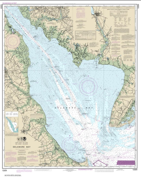 Buy map Delaware Bay (12304-47) by NOAA