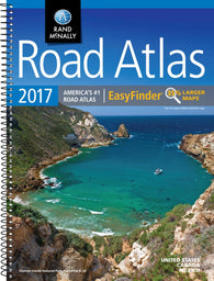 Buy map United States, Canada and Mexico, 2017 Midsize Deluxe Easy to Read Road Atlas by Rand McNally