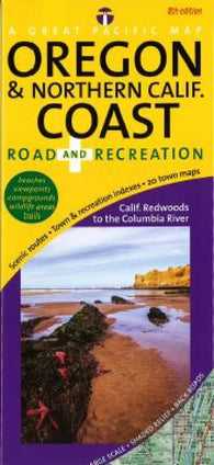 Buy map Oregon Coast and Northern California Coast, Recreation by Great Pacific Recreation & Travel Maps