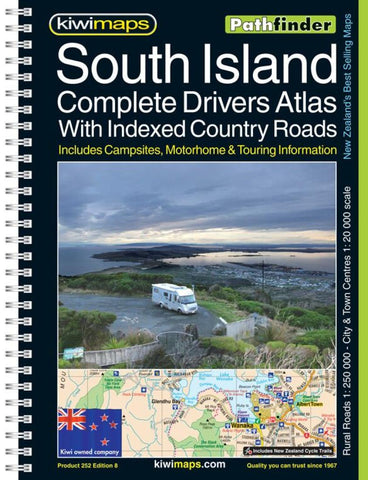 Buy map South Island Rural Roads, New Zealand, Atlas by Kiwi Maps