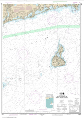 Buy map Block Island Sound Point Judith to Montauk Point (13215-21) by NOAA