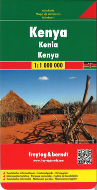 Buy map Kenya by Freytag-Berndt und Artaria