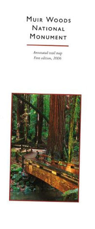 Buy map Muir Woods National Monument, California by Redwood Hikes Press
