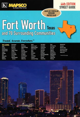 Buy map Fort Worth, Texas, Street Guide by Kappa Map Group