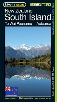 Buy map South Island, New Zealand, Pathfinder Map by Kiwi Maps