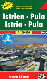 Buy map Istria and Pula, Croatia by Freytag-Berndt und Artaria