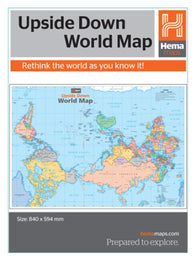 Buy map World, Upside Down by Hema Maps