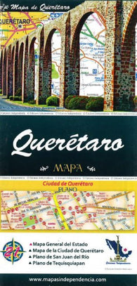 Buy map Queretaro, Mexico, State and Major Cities Map by Ediciones Independencia