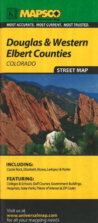 Buy map Douglas and Western Elbert, Colorado by Kappa Map Group