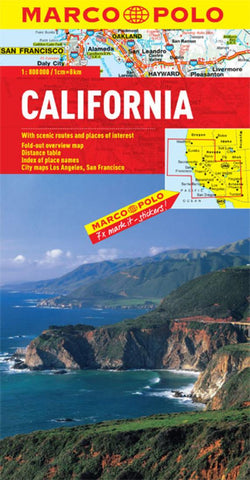 Buy map California by Marco Polo Travel Publishing Ltd