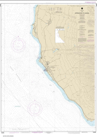 Buy map Approaches to Lahaina, Island of Maui (19348-8) by NOAA