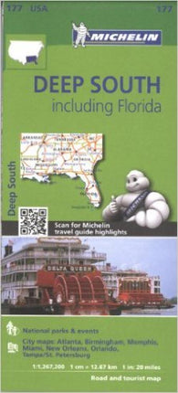 Buy map United States, Deep South including Florida (177) by Michelin Maps and Guides