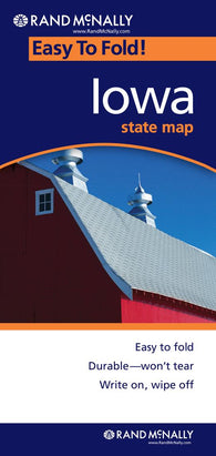 Buy map Iowa, Easy to Fold by Rand McNally