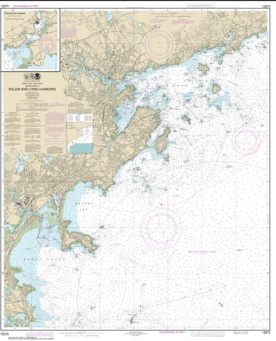 Buy map Salem and Lynn Harbors; Manchester Harbor (13275-32) by NOAA