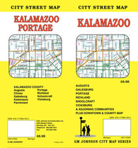 Buy map Kalamazoo, Michigan by GM Johnson