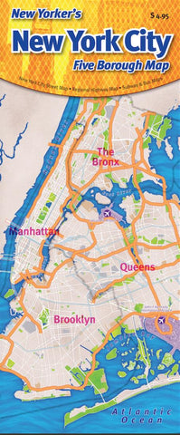 Buy map New York City, Five-Borough Map, laminated by Opus Publishing