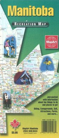 Buy map Manitoba Recreation Map by Canadian Cartographics Corporation, MapArt Corporation