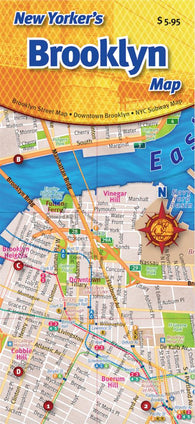 Buy map New Yorkers Brooklyn Map by Opus Publishing