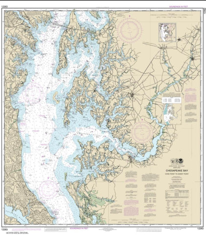 Buy map Chesapeake Bay Cove Point to Sandy Point (12263-56) by NOAA