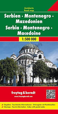 Buy map Serbia, Montenegro, and Macedonia by Freytag-Berndt und Artaria