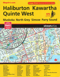 Buy map Haliburton, Kawartha, and Quinte West Street Atlas by Canadian Cartographics Corporation
