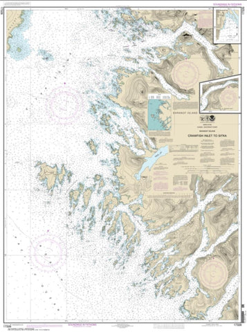 Buy map Crawfish Inlet to Sitka, Baranof I.; Sawmill Cove (17326-17) by NOAA