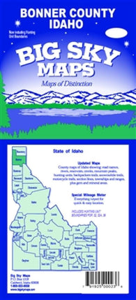 Buy map Bonner County, Idaho by Big Sky Maps