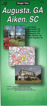 Buy map Augusta, Georgia and Aiken, South Carolina by The Seeger Map Company Inc.