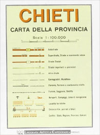 Buy map Chieti Province, Italy by Litografia Artistica Cartografica