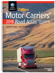 Buy map United States, Canada and Mexico, 2017 Deluxe Motor Carriers Road Atlas by Rand McNally