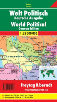 Buy map World, Political Wall Map, German edition by Freytag-Berndt und Artaria
