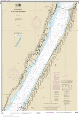 Buy map Hudson River Days Point to George Washington Bridge (12341-28) by NOAA