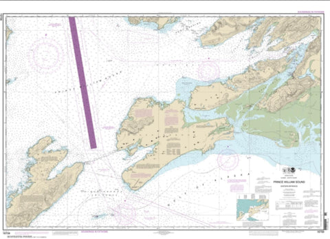 Buy map Prince William Sound-eastern entrance (16709-25) by NOAA
