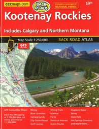 Buy map Kootenay Rockies Back Road Atlas by Canadian Cartographics Corporation