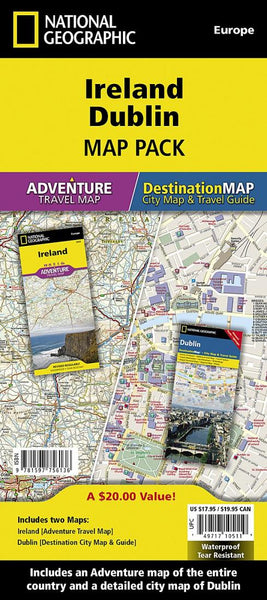 Buy map Ireland & Dublin Map Pack Bundle by National Geographic Maps